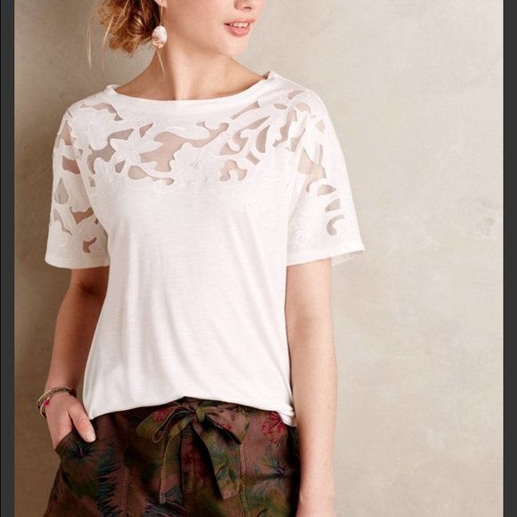 Anthropologie Tops - Anthropologie Cutout Tee
