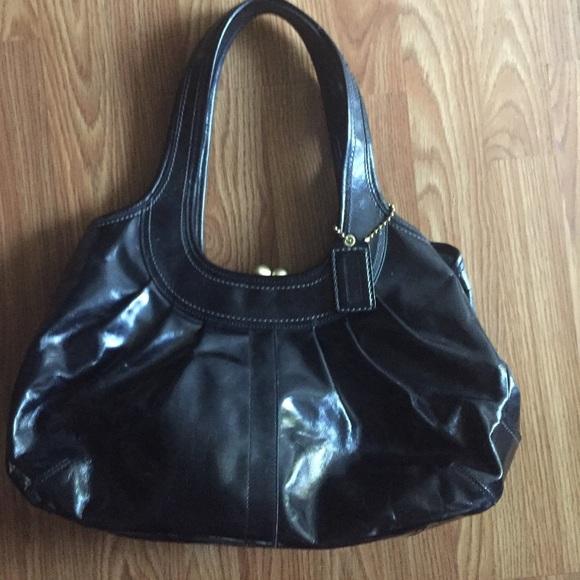 afbb0ba8c Coach Bags | Patent Leather Pleated Ergo Framed Satchel | Poshmark