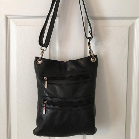 c3990ba1e050 Margot Black Leather Cross Body Bag. M 5775c5f713302a149e02bc83