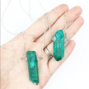 Wila Jewelry - SALE🌷Aqua Aura Crystal Silver BOHO Necklace✨2xHP✨