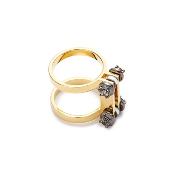 17 j crew jewelry industrial bolt ring from