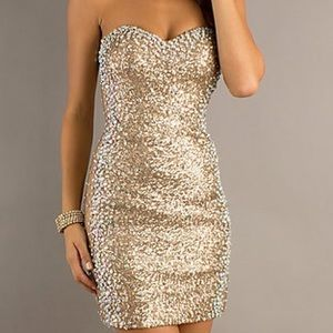 🎉NYE🎉Strapless. Sequin. Rhinestone. Dress.