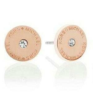 Michael Kors Jewelry - Michael Kors Flat Disc Logo Stud Earrings NWT