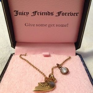 Juicy Couture Jewelry - Juicy Couture BFF Half Heart Necklace