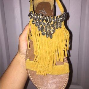 GENTLY WORN fun bohemian bling sandals
