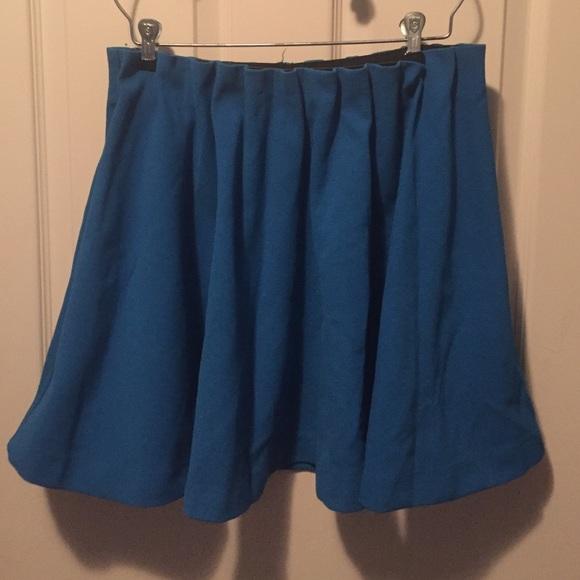 53 h m dresses skirts h m blue pleated top skirt