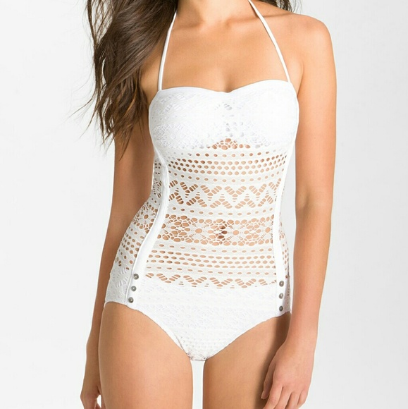 72af68932b3 Robin Piccone Swim | Authentic White Lace Bathing Suit | Poshmark
