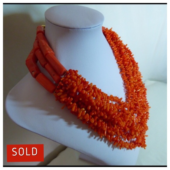 crystal choker fossil Necklace crystal necklace Agatized Coral Tie One On Necklace ~ Choker Necklace Dainty Necklaces coral necklace