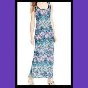 Connected Apparel Dresses & Skirts - Purple Chevron Sleeveless Maxi Dress NWT $89 4P