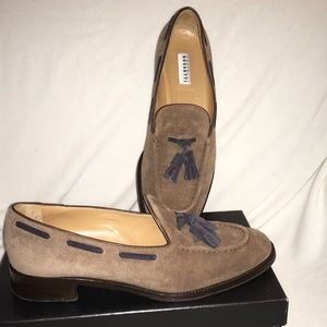 Fratelli Rossetti Shoes - FRATELLI ROSSETTI Taupe Suede Loafers 39.5/US9.5
