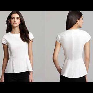 Theory Tops - Theory white cotton peplum shirt