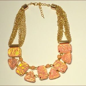 New Fashion Statement Necklace in Peach