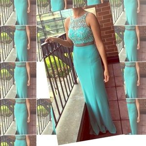 Other - Aqua Prom Gown