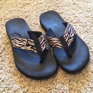 Eve Shoes - eve zebra print sandals