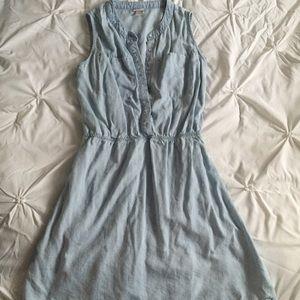 Merona Dresses & Skirts - Faded Sleeveless Jean Chambray Dress