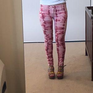 Jolt Denim - Jolt Hot Pink Tie-Dyed Jeans - sz 11