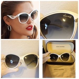 Authentic Louis Vuitton Ginger Sunglasses in white