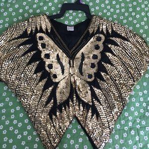 Vintage silk & sequins blouse