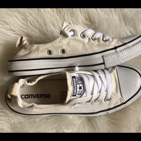 6c1a147acb42 Converse Shoes - Cream color slip on Shoreline sneaker womens 8