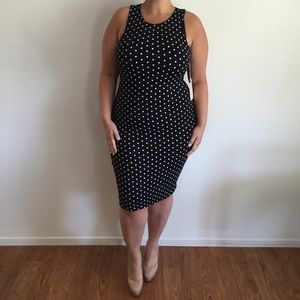 Dresses & Skirts - B&W Polka Dot Dress*