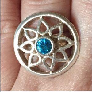 Satya Jewelry Jewelry - Satya Lotus Topaz Sterling Silver Ring