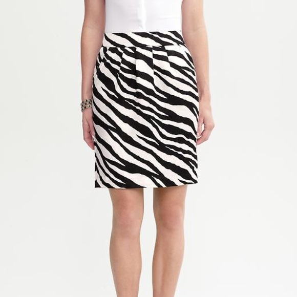 72 banana republic dresses skirts zebra print