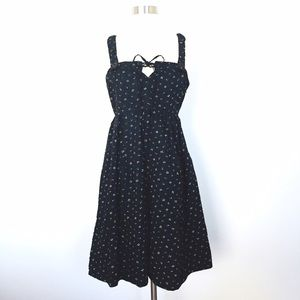 Marc Jacobs: Navy Blue Gingham Pattern Sun Dress
