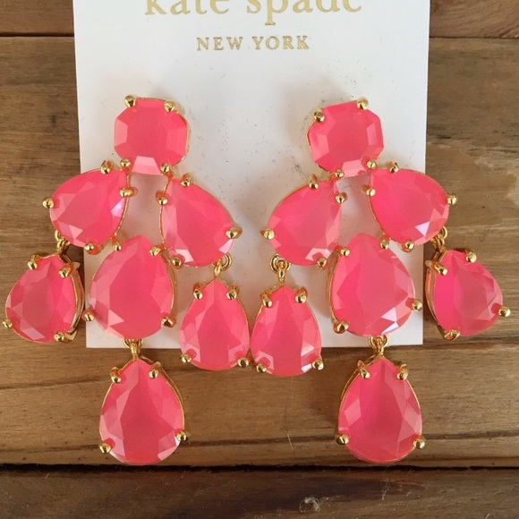 49% off kate spade Jewelry - Kate Spade chandelier earrings in hot ...