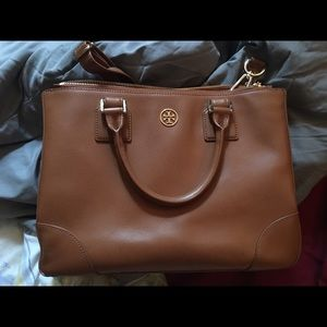 Tory Burch Robinson Large Double Zip Tote