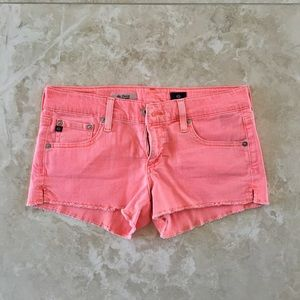 """ADRIANO GOLDSCHMIED NEON CORAL """"DAISY"""" SHORTS"""
