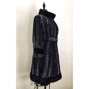 """Adele"" Persian lamb coat"