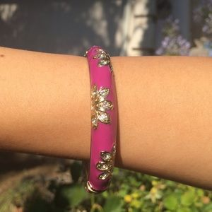 Jewelry - Pink Flower Bangle