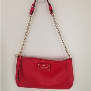Red leather Kate Spade purse, like new!
