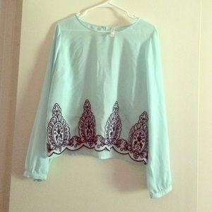 Like NEW Xhilaration embroidered blouse