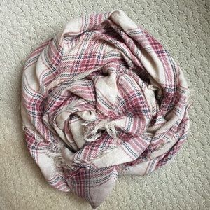 Cream and red forever 21 light weight scarf