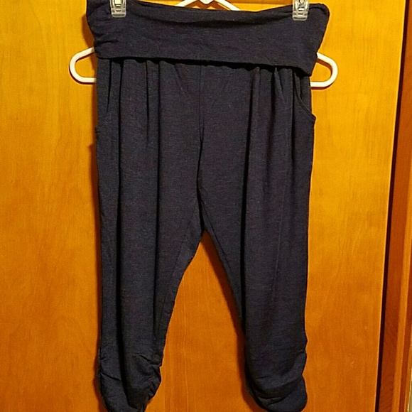 75% off Pants - Extremely soft navy blue yoga capris! Size Medium ...