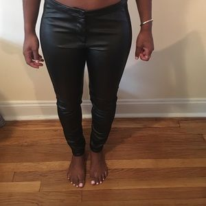 Faux H&M leather pants