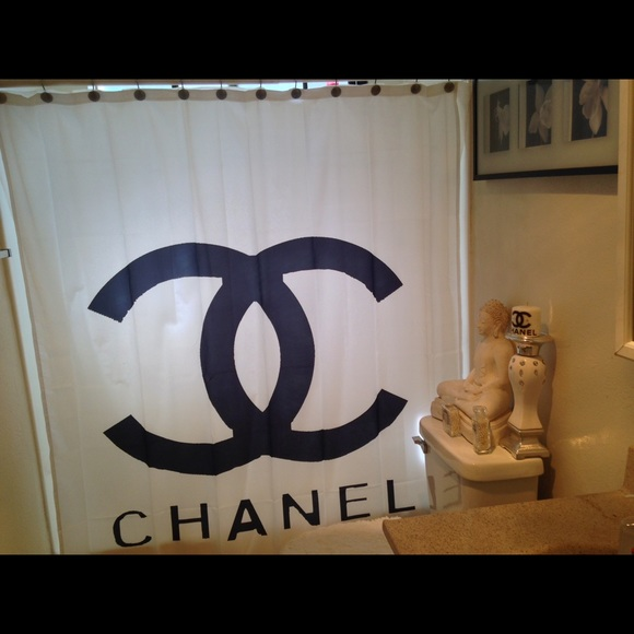 Chanel Shower Curtain Home Image Ideas