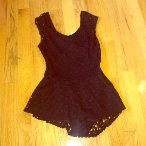 Tops - Lace Black Top