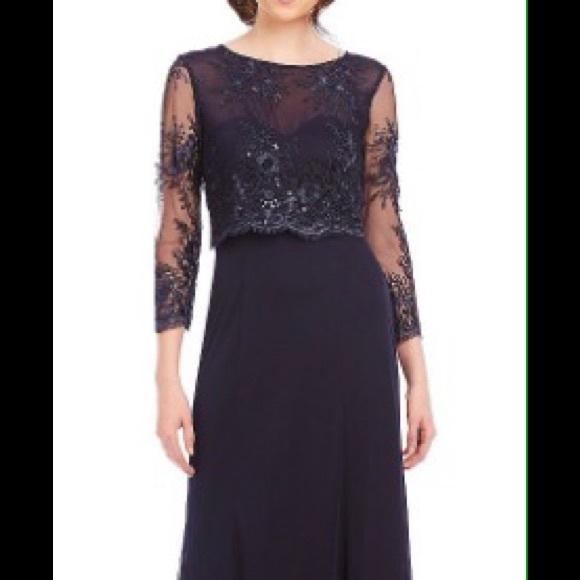 Cachet Dresses | Nwt Navy Evening Gown | Poshmark