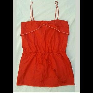 Wren Tops - WREN Red Piped Retro Vtg Nautical Insp Cami Top