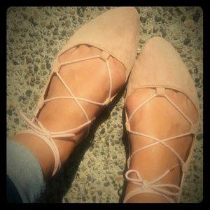 Shoes - Pink Ballet Flats