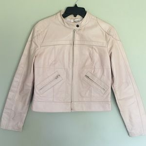 Vintage 100% leather blush pink jacket from LA