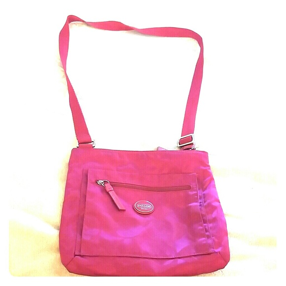 58% off Coach Handbags - Hot pink Coach purse from Megan's ...
