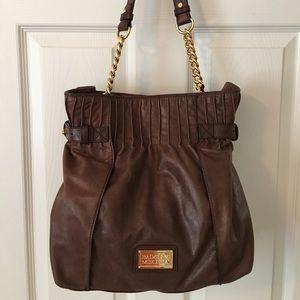Badgley Mischka Handbags - 🛍 Badgley Mischka Brown Leather Shoulder Bag