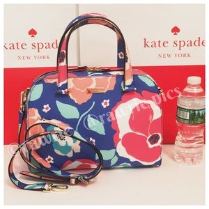 New Kate Spade felix multicolor floral Satchel