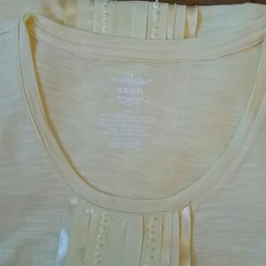 IZOD PALE YELLOW SZ LG SLEEVELESS TANK