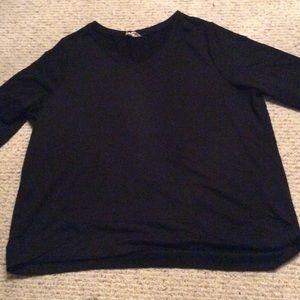 Danskin Tops - Black V neck top with 2 buckets size XXL