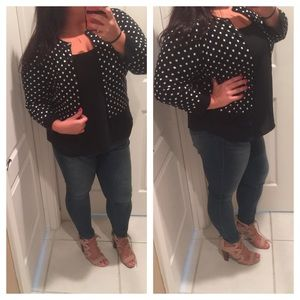 Poka dot cardigan