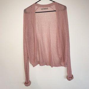 Blush loose knit cardigan